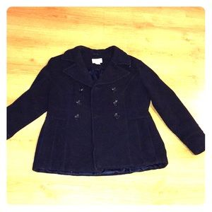 St. John's Bay Navy Blue Wool Coat